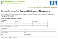 Abbildung Praktikumsvertrag in Sustainable Resource Management